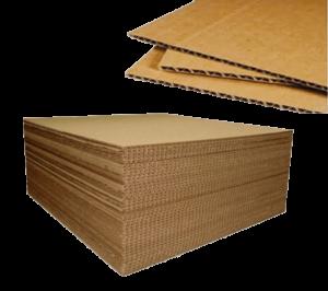 También podemos conseguir Cartón Corrugado de 3mm contra pedido del cliente.