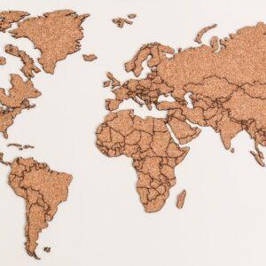 Corte grabado láser-Mapa corcho